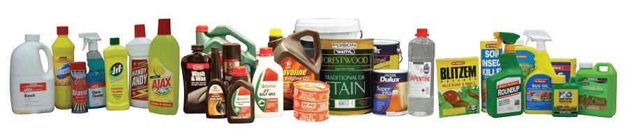 Image showing various household hazardous waste items