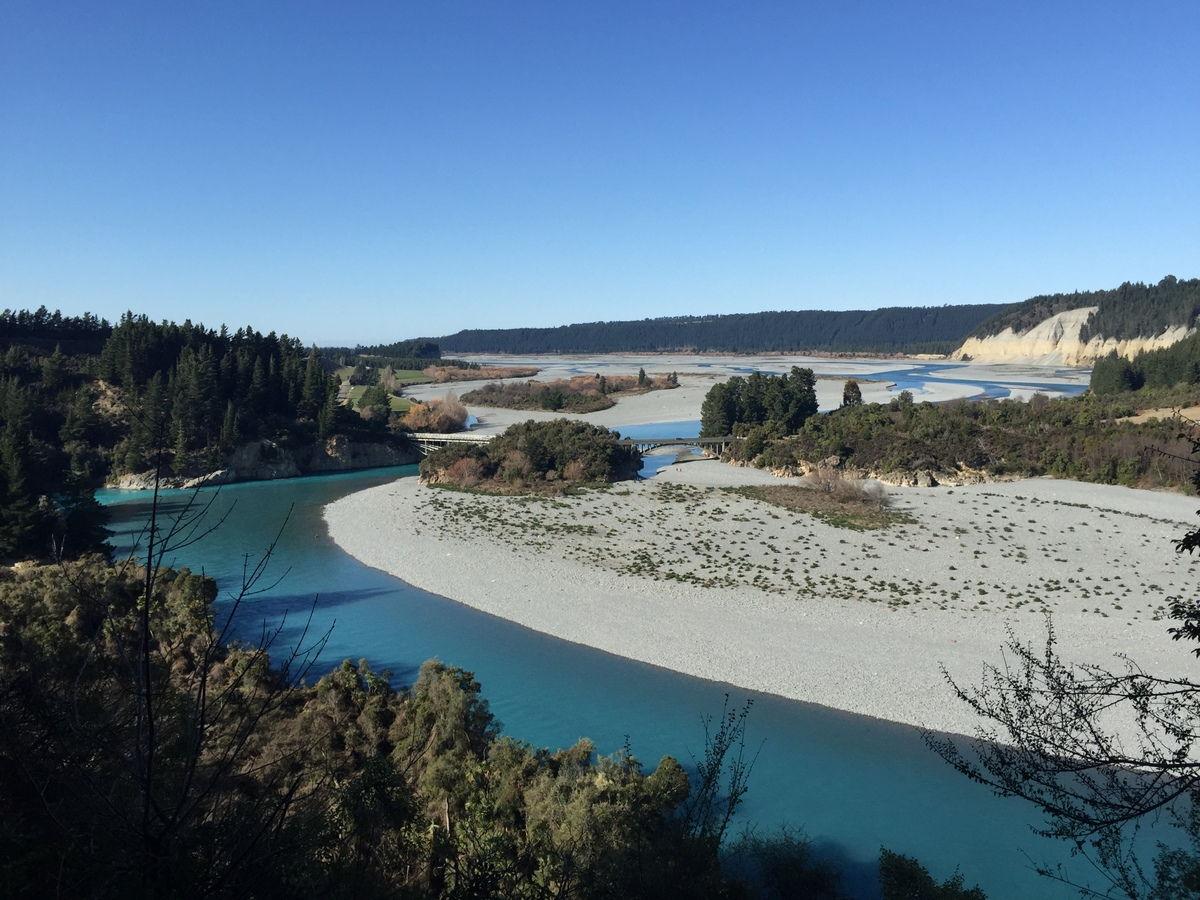 Rakaia Gorge and bridge