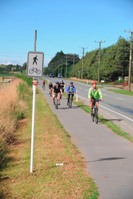 Photo of cyclists on the rail trail