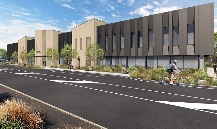 An artists impression of how the new health hub will look
