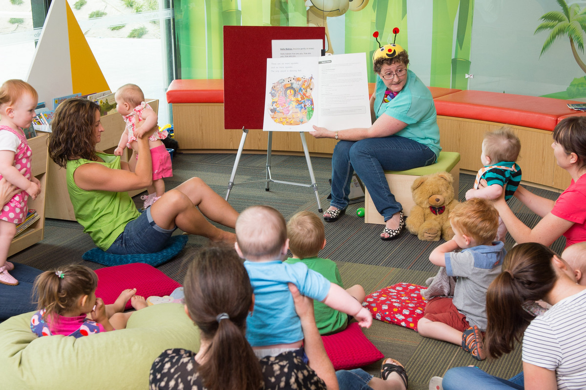 Storytime at one of the Selwyn District's libraries.