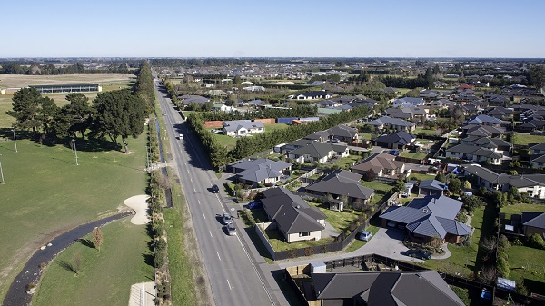 Rolleston aerial shot