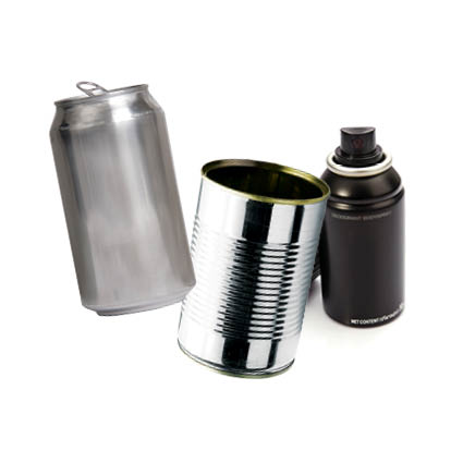 Image of steel and aluminium cans