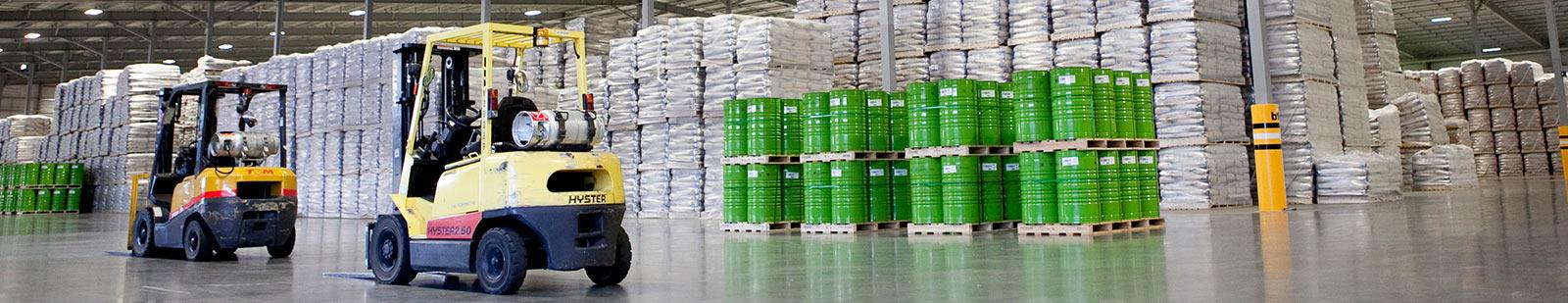Inside a warehouse at Izone
