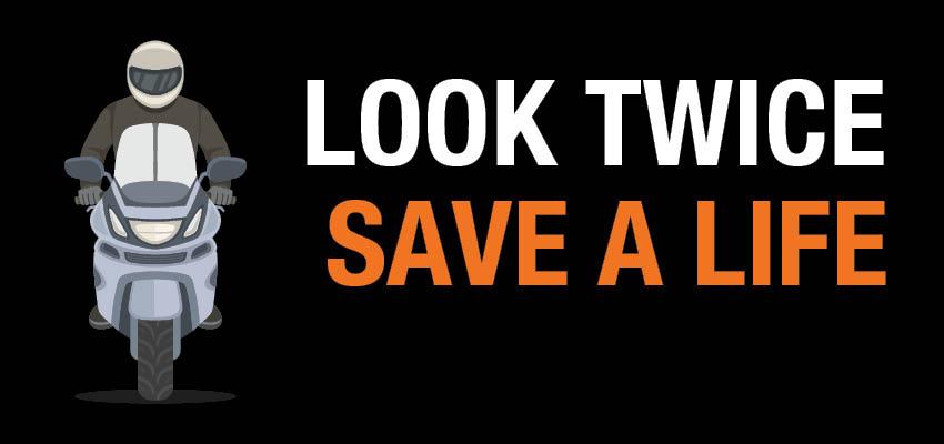 Look twice save a life man on motorbike