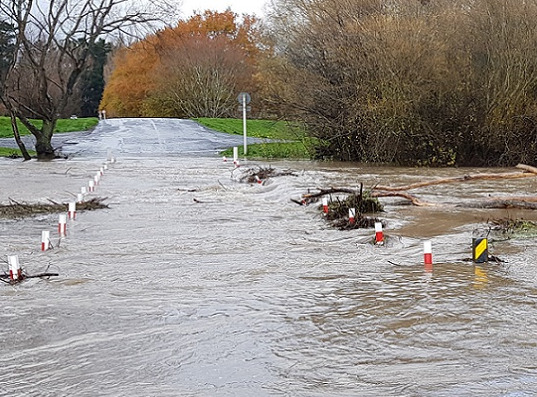 Flooding at Coes Ford 2019