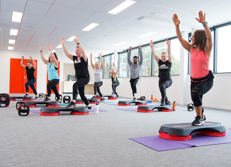 An exercise class at Selwyn Sports Centre