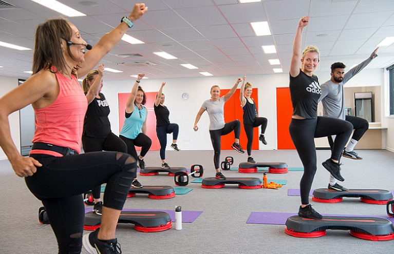 A fitness class at Selwyn Sports Centre