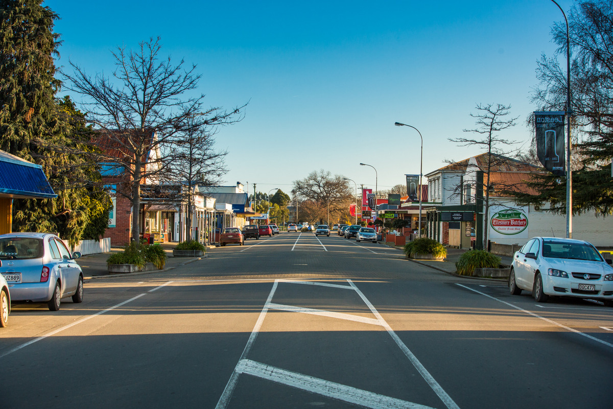 Leeston Main Street