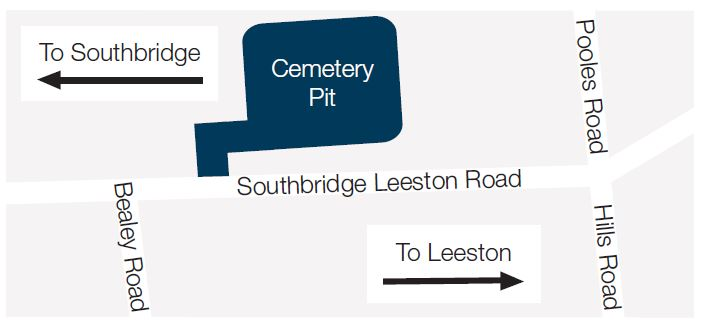 Map of Cemetery Pit location