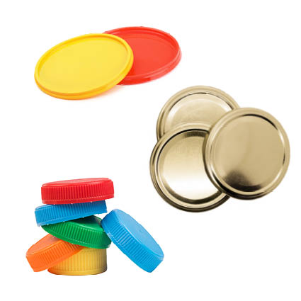 Image of various types of lids