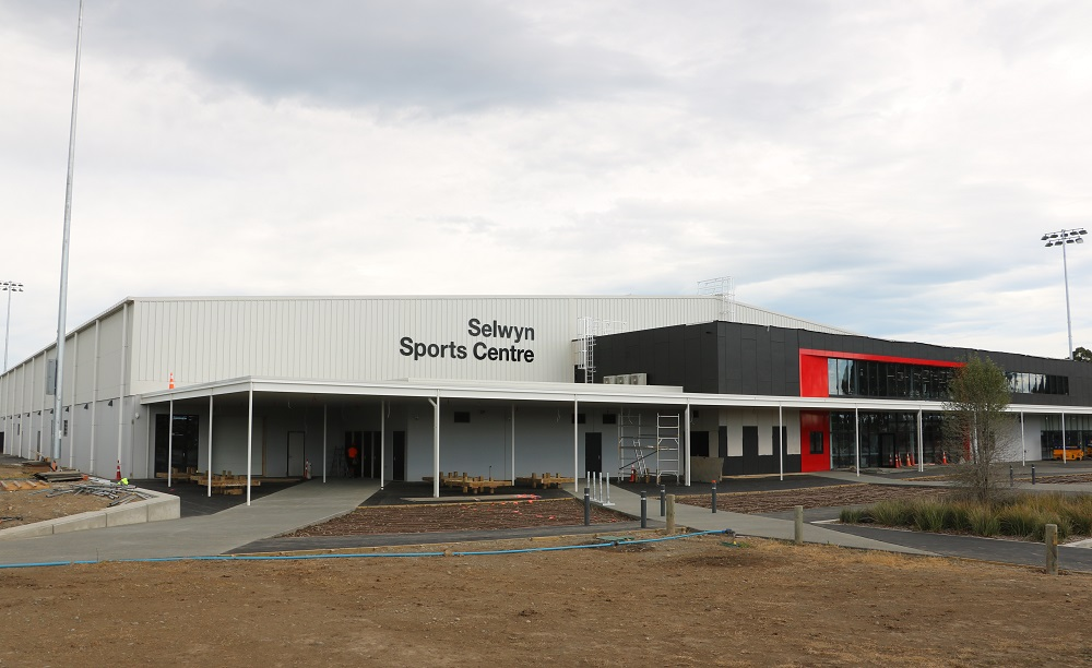 The outside of the Selwyn Sports Centre