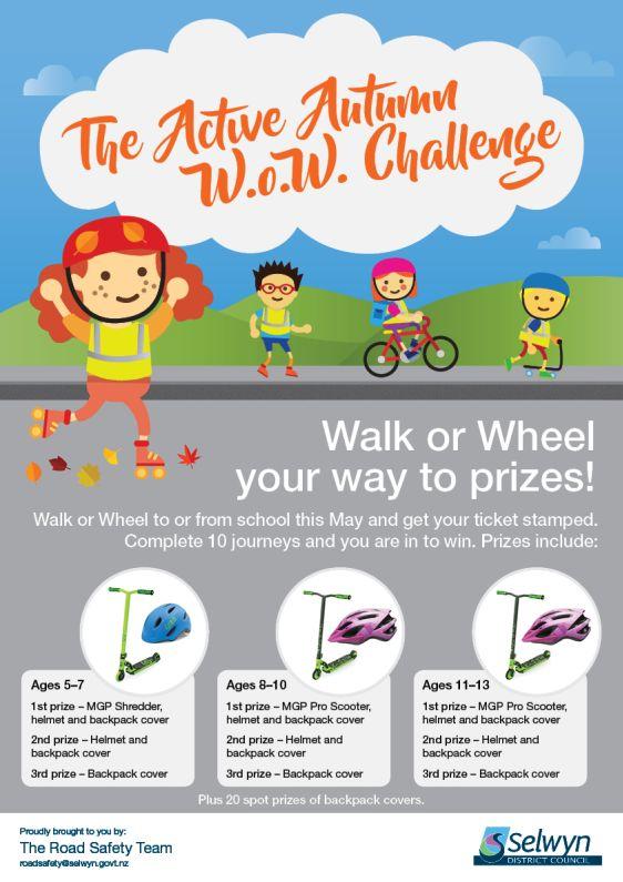 Active Autumn Walk or Wheel