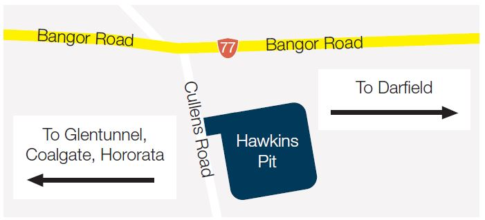 Map of Hawkins Pit location