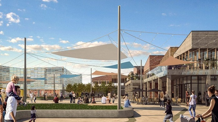 Artists impression of new town square