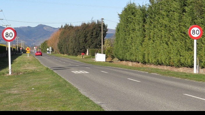 Speed limit signs on Blakes Road