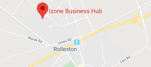 Google maps showing Izone, Rolleston