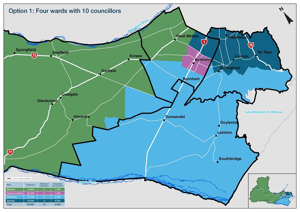 Map of the proposed ward boundaries for consultation