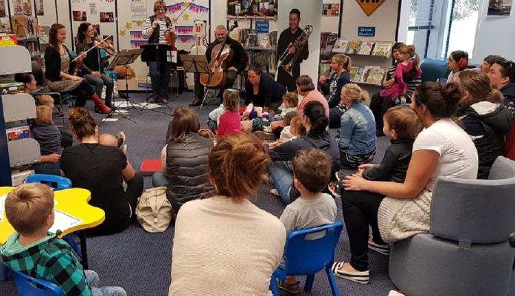 families join in Christchurch Symphony Orchestra performance at Lincoln Library