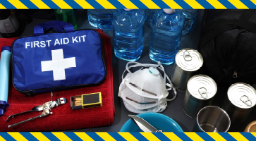 close up of an emergency kit