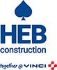 HEB Construction logo