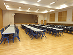 Event set up in the Nicholas Hall