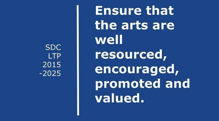 Words: 2015 LTP quote: Ensure that the arts are well resourced, encouraged, promoted and valued.