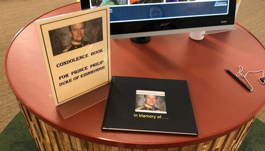 HRH Prince Philip condolence book